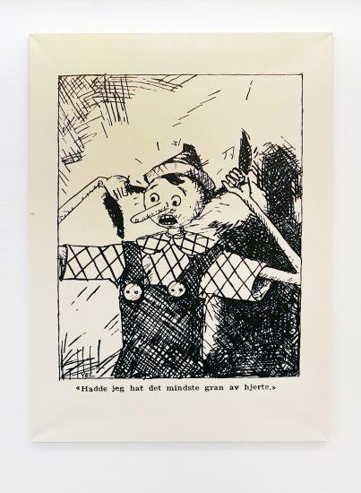<em>Pinocchio og hans forunderlige reise, kap. XXXII</em>, Yngvar Larsen. Fotograf: KORO/Cathrine Wang