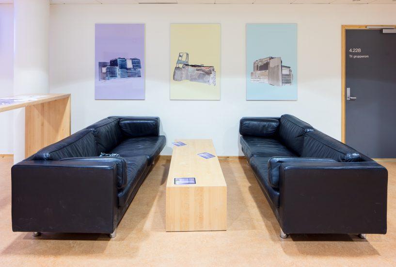 <em>Hytte 3, 1 og 5</em>, Maria Gradin. Fotograf: Kjell Ove Storvik