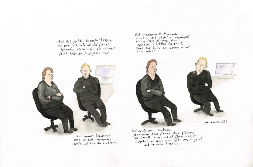 <em>Når det gjelder brannforebygging</em>, av Mette K. Hellenes. Fotograf: Mette K. Hellenes