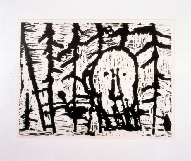 <em>I skogen</em>, av Tore Hansen. Fotograf: Lene Ask
