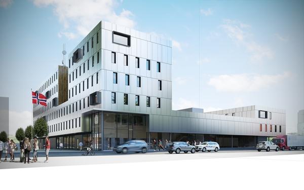 <em>Politihuset i Tromsø</em>, Illustrasjon: Statsbygg.