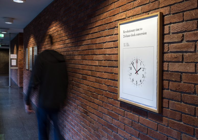 <em>Revolutionary time to 24-hour clock conversion</em>, Toril Johannessen. Photographer: Thor Brødreskift
