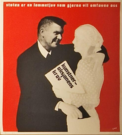 <em>Plakat kunstneraksjonen -74</em>, Victor Lind. Fotograf: Trond A. Isaksen