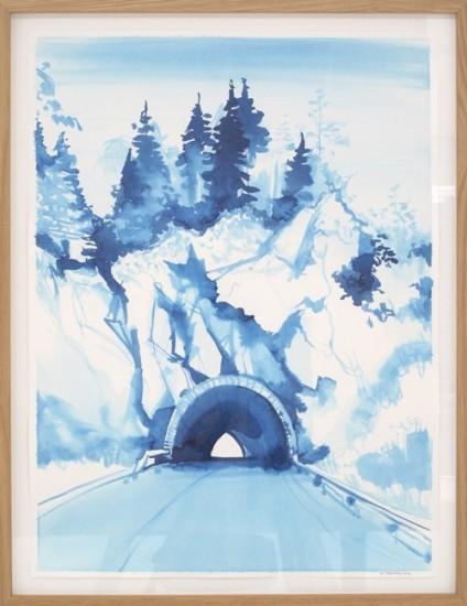 <em>Tunnel (blå)</em>, Lars Korff Lofthus. Fotograf: Randi Thommessen