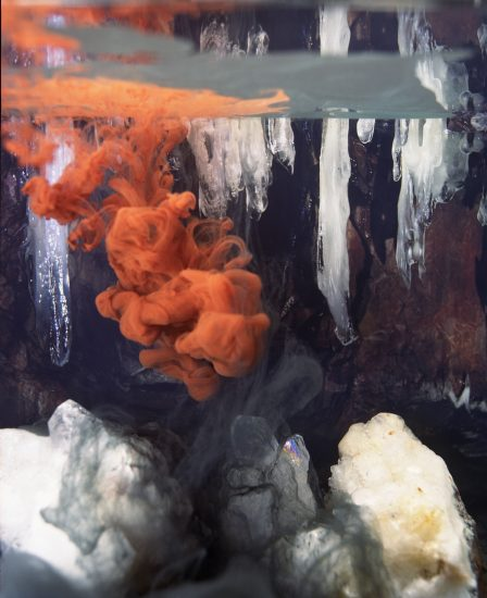 <em>Composition in Orange and Black, The Ice Cave</em>, Per Christian Brown. Photographer: Per Christian Brown