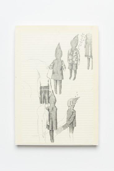 <em>Katrin Berge</em>, blyant på Moleskin-papir, 2009. Photographer: Vegard Kleven