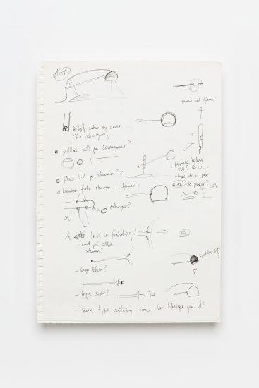 <em>Sverre Uhnger</em>, penn på papir, 2012. Photographer: Vegard Kleven