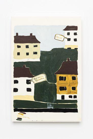 <em>Caroline Kierulf</em>, akrylmaling og blyant på papir, 2011. Photographer: Vegard Kleven