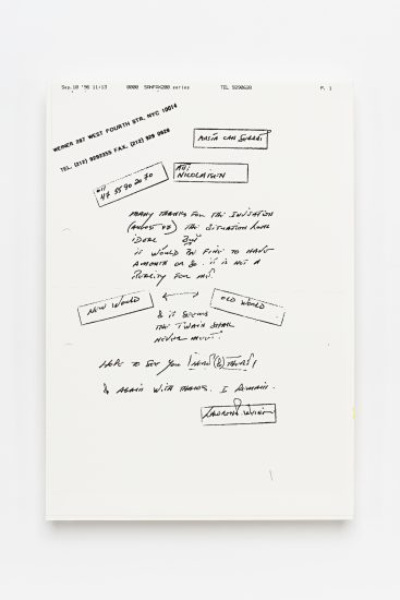 <em>Terje Nicolaisen</em>, telefax, 1996. Photographer: Vegard Kleven