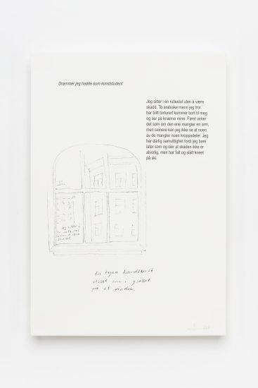 <em>Arne Vinnem</em>, skisse på papir, 2017. Photographer: Vegard Kleven