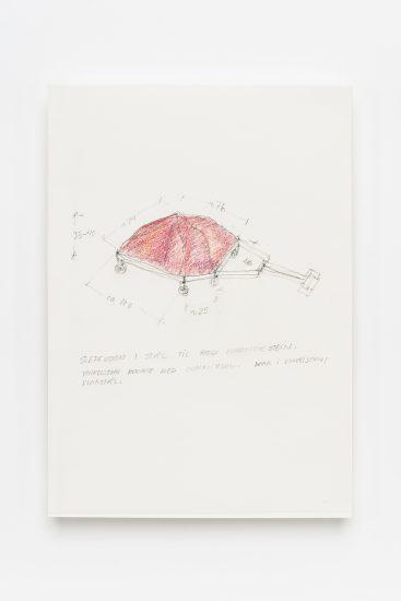 <em>Marit Aanestad</em>, blyant og fargestift på papir, 2016. Photographer: Vegard Kleven