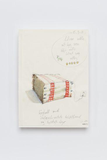 <em>Lars Korff Lofthus</em>, blyant, penn og akvarell på papir, 2011. Photographer: Vegard Kleven