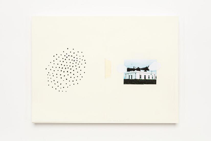 <em>Jacob Alrø</em>, xerografi, papirklipp og tusj på papir, 2013. Photographer: Vegard Kleven
