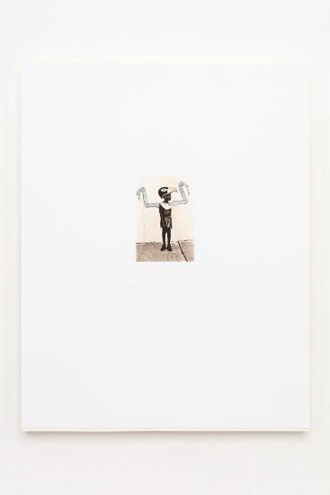 <em>Kjetil Kausland</em>, pigment på barytt (tegning på fotografi), 2011. Photographer: Vegard Kleven