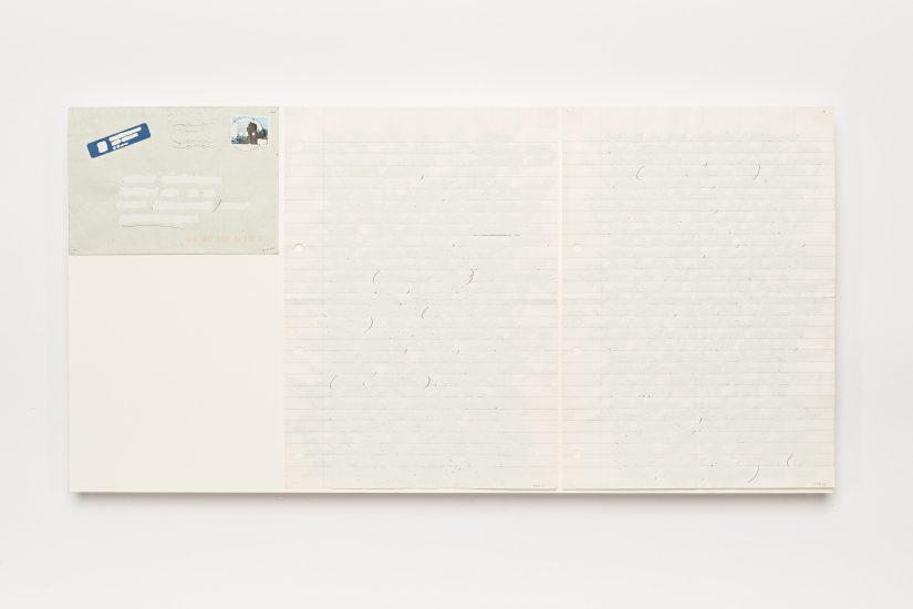 <em>Mattias Härenstam</em>, hvit korrekturlakk på papir, 1995. Photographer: Vegard Kleven