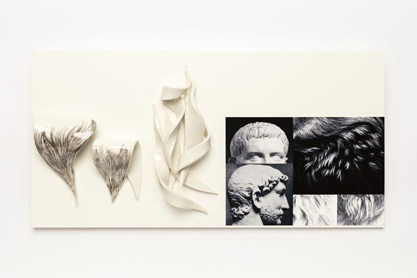<em>Anne Thomassen</em>, porselen med tegning og xerografi på papir, 2016. Photographer: Vegard Kleven