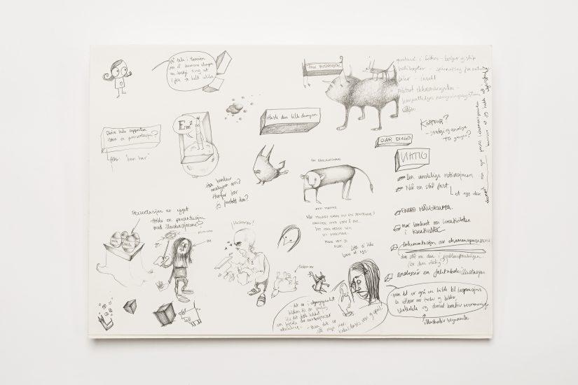 <em>Anna-Lisa Johannessen</em>, blyant på papir, 2008. Photographer: Vegard Kleven