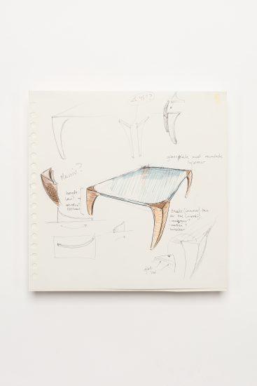 <em>Atle Tveit</em>, penn og tusj på papir, utdrag fra skissebok, 2004. Photographer: Vegard Kleven