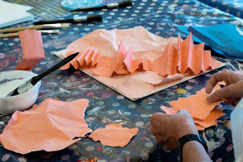 <em>Workshop</em>, med Ann Iren Buan. Fotograf: Kirsten Randers-Pherson