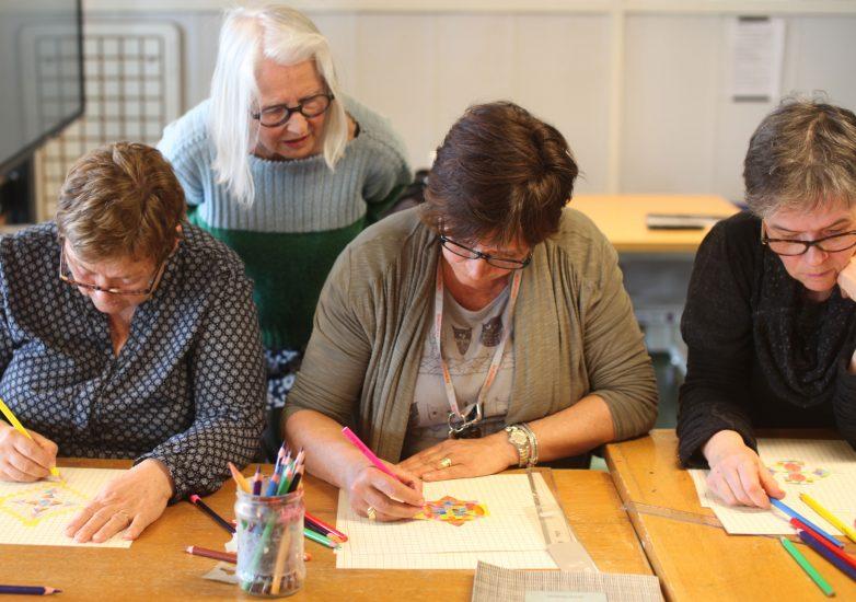 <em>Workshop</em>, med Anne Rolfsen. Fotograf: Eirin Støen