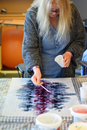 <em>Workshop</em>, med Anngjerd Rustand. Fotograf: Eirin Støen