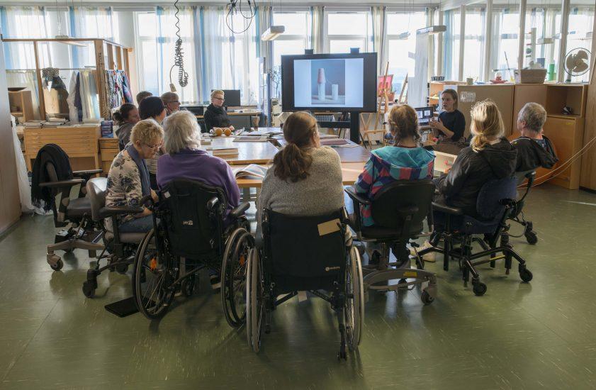 <em>Workshop</em>, med Marthe Elise Stramrud. Fotograf: Kirsten Randers-Pherson