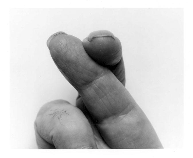 <em>Self Portrait Crossed Fingers No 2</em>, John Coplans. Fotograf: Jiri Havran