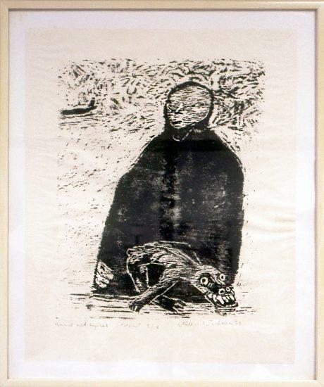 <em>Kvinne med tupilak</em>, Ståle Blæsterdalen. Fotograf: Nanna Cecilie Brekke