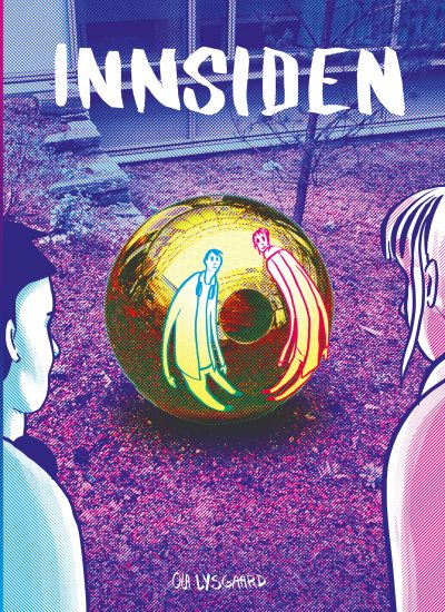<em>Innsiden, historie om kunsten og arkitekturen ved barne- og ungdomssenteret</em>, Illustrasjon: Ola Lysgaard.