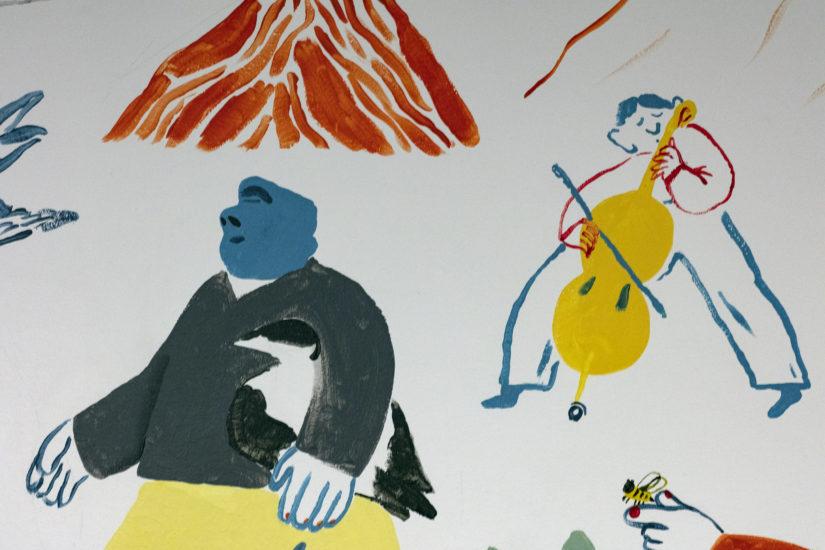 <em>Utsnitt, Alfabetisk reisefølge i fri rekkefølge</em>, Mari Kanstad Johnsen. Fotograf: Werner Zellien