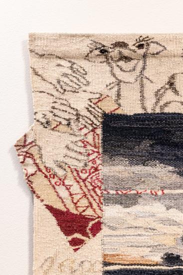 <em>Dromedarene og tekstilkunsten, detalj</em>, Else Marie Jakobsen. Fotograf: Niklas Hart