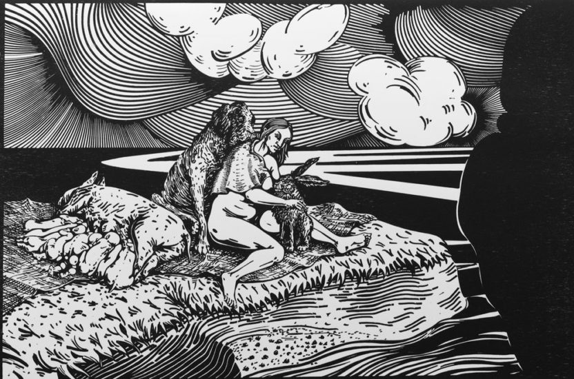 <em>Allegori over Nordland IV</em>, Rita Marhaug. Fotograf: Sissel Lillebostad
