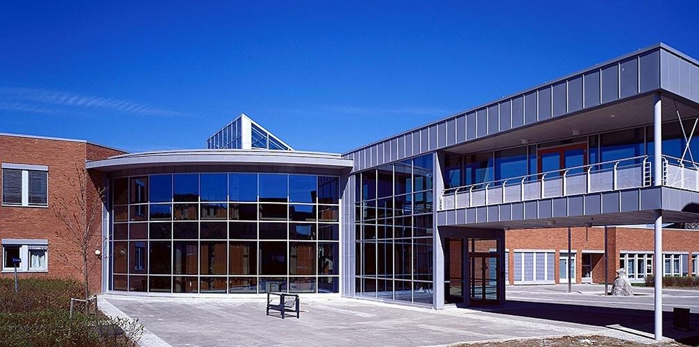 <em>USN Universitetet i Sørøst-Norge</em>, campus Porsgrunn. Fotograf: Statsbygg