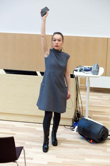 <em>ACT overrekkelsestale på åpningen av Juridisk fakultet 16/1 2020</em>, Marianne Heier. Fotograf: Kristine Jakobsen