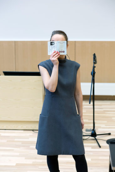 <em>ACT overrekkelsestale på åpningen av Juridisk fakultet 16/1 2020</em>, Marianne Heier. Photographer: Kristine Jakobsen