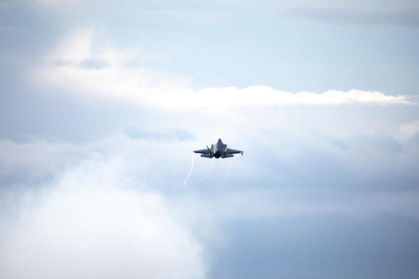 Nye F-35 tar av. Fotograf: Hedvig Antoinette Halgunset/ Forsvaret.