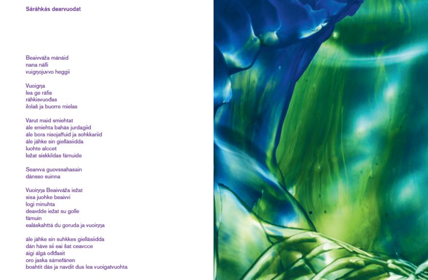 <em>Utdrag fra diktsamlingen</em>, Mary Ailionieida Sombán Mari. Fotograf: Printscreen