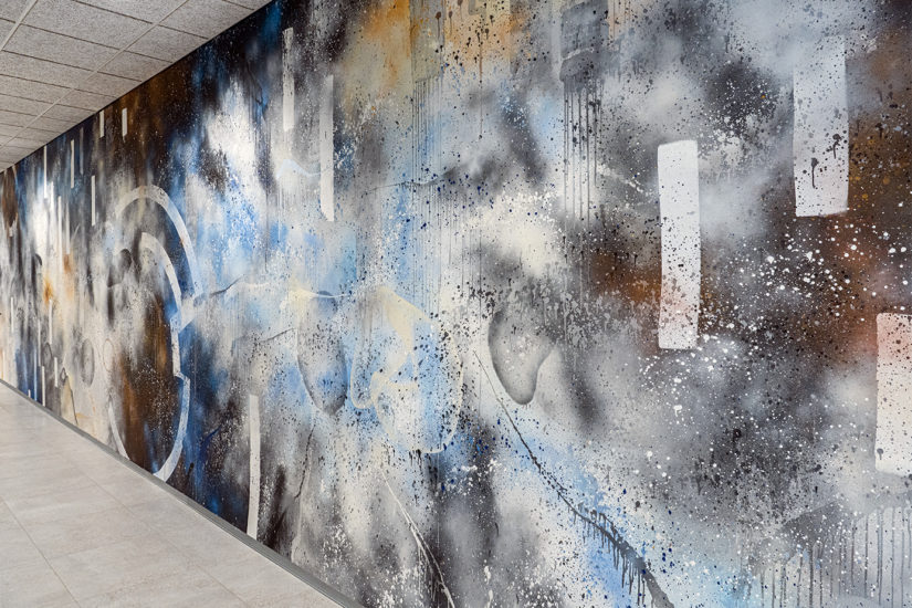 <em>Veggmaleri</em>, Tegson. Fotograf: Åsne Kummeneje Mellem